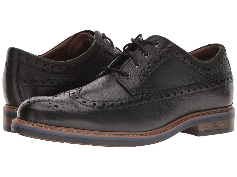 Bostonian Melshire Wing (Black Tumbled Leather) Men