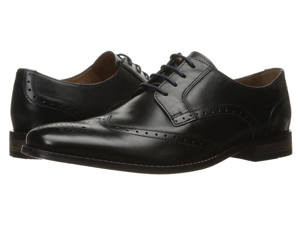 Bostonian Narrate Wing (Black Leather) Men