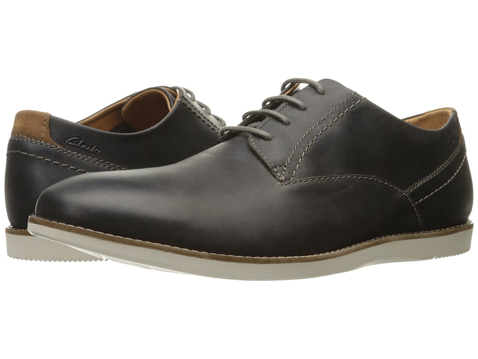 Clarks Franson Plain (Grey Leather) Men