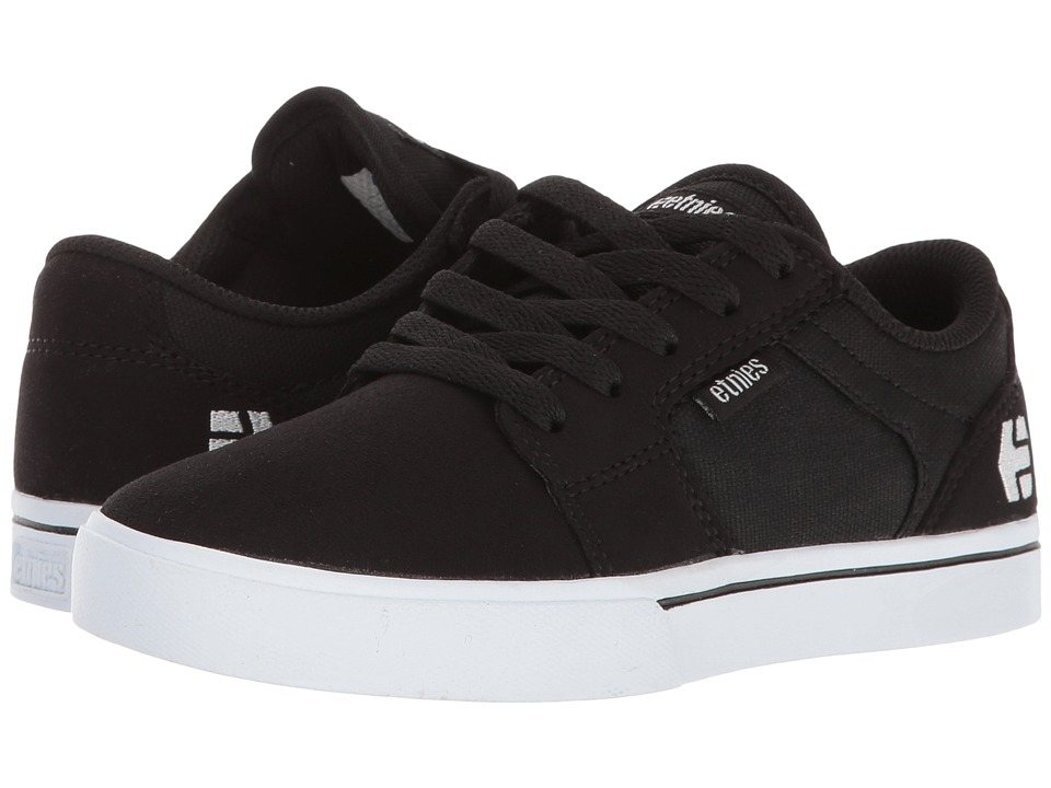 etnies Kids - Barge LS (Toddler/Little Kid/Big Kid) (Black/White) Boys Shoes