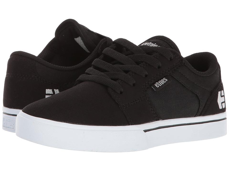 etnies Kids Barge LS (Toddler/Little Kid/Big Kid) (Black/White) Boys Shoes