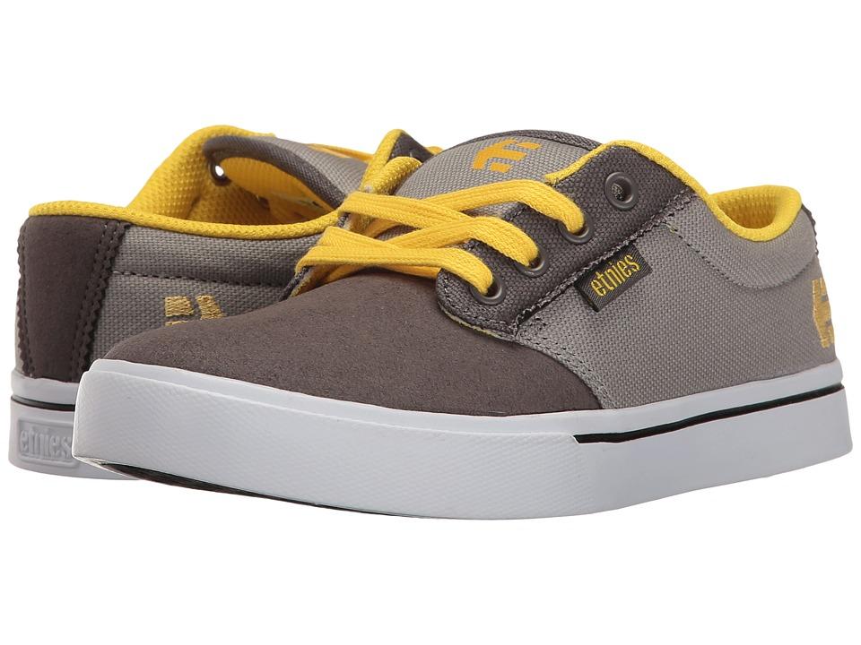 etnies Kids Jameson 2 Eco (Toddler/Little Kid/Big Kid) (Grey/Yellow) Boys Shoes