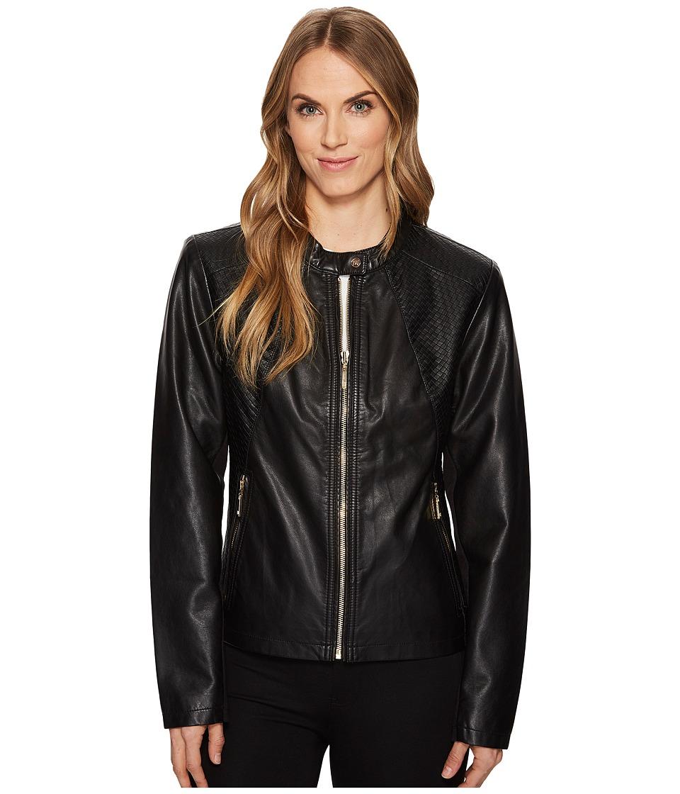Ivanka Trump - PU Jacket (Black) Women's Coat