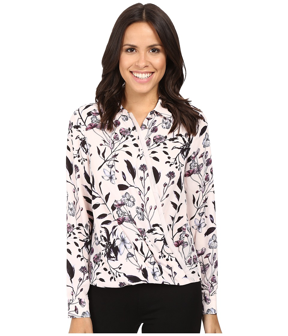 Ivanka Trump - Printed Georgette Blouse (Blush/Black) Women's Blouse