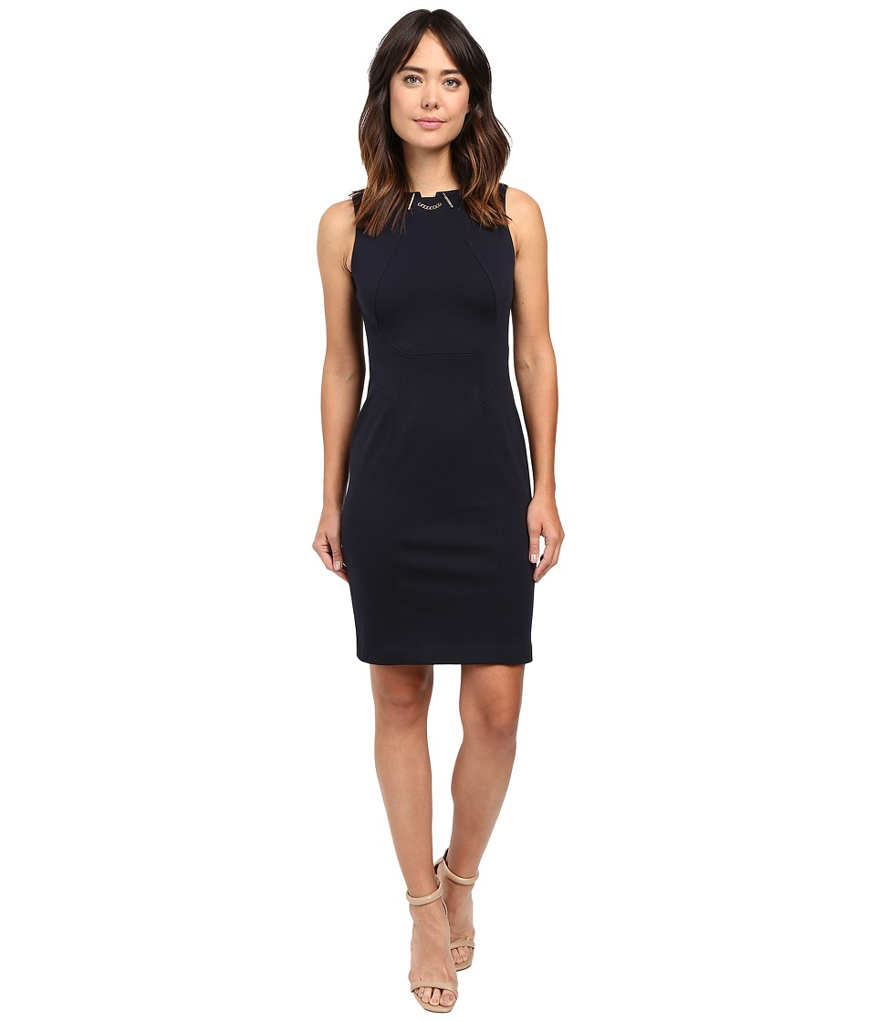 Ivanka Trump - Ponte Toggle Dress (Navy) Women's Dress