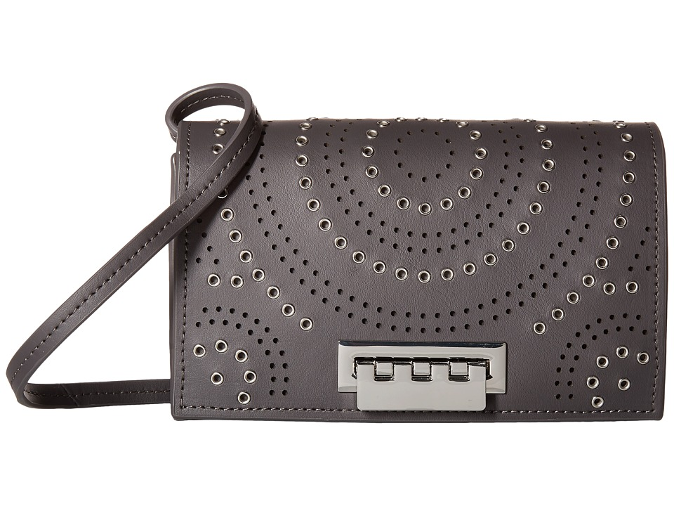ZAC Zac Posen - Earthette Crossbody with Signature Hardware (Gray) Cross Body Handbags