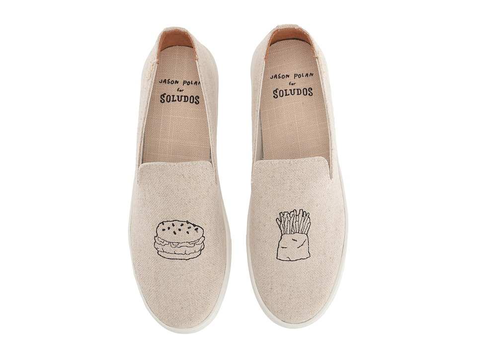 Soludos Embroidered Slip-On Sneaker (Sand Cotton Woven Canvas) Women