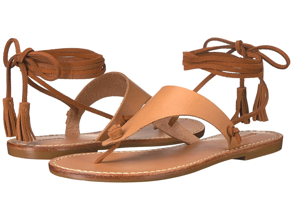 Soludos - Thong Gladiator Flat Sandal (Vachetta Leather) Women's Sandals