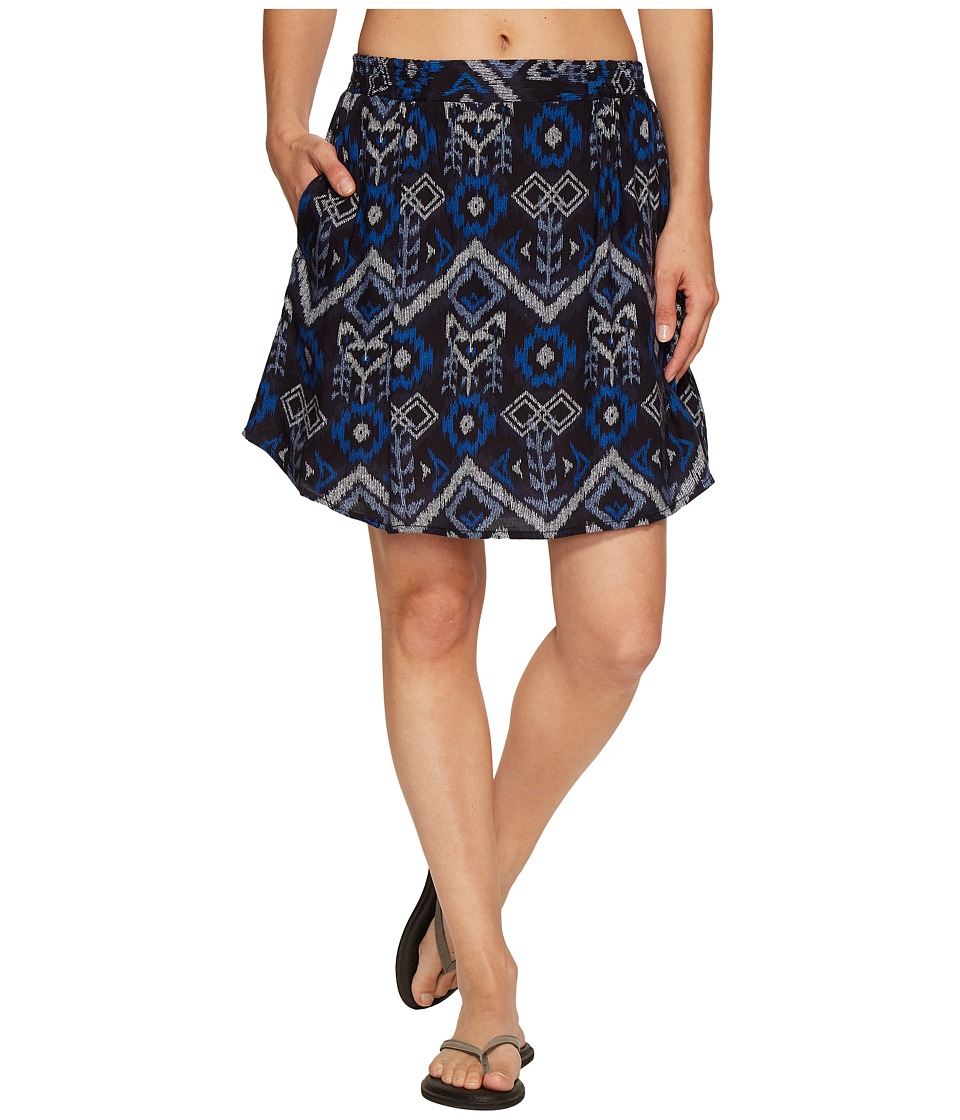 KAVU South Beach Skirt (Blue Ikat) Women