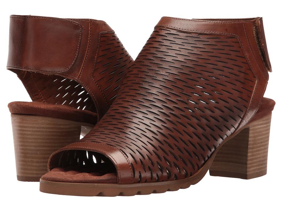 Walking Cradles - Nikki (Luggage Accordion Perfed Soft Maia) Women's 1-2 inch heel Shoes