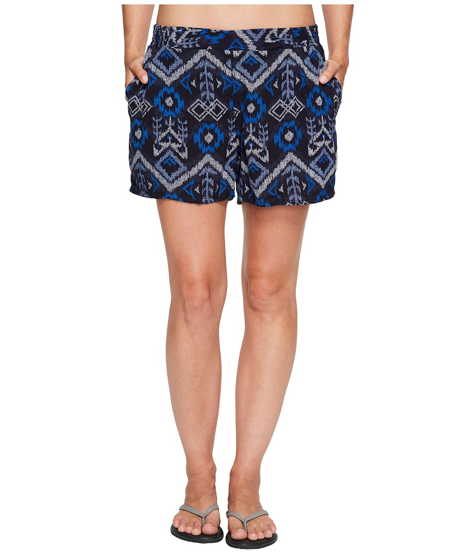 KAVU - Sally Shorts (Blue Ikat) Women's Shorts