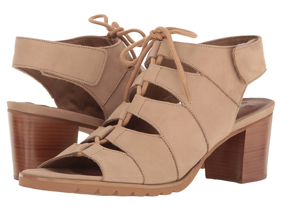 Walking Cradles - Nola (Light Taupe Nubuck) Women's 1-2 inch heel Shoes
