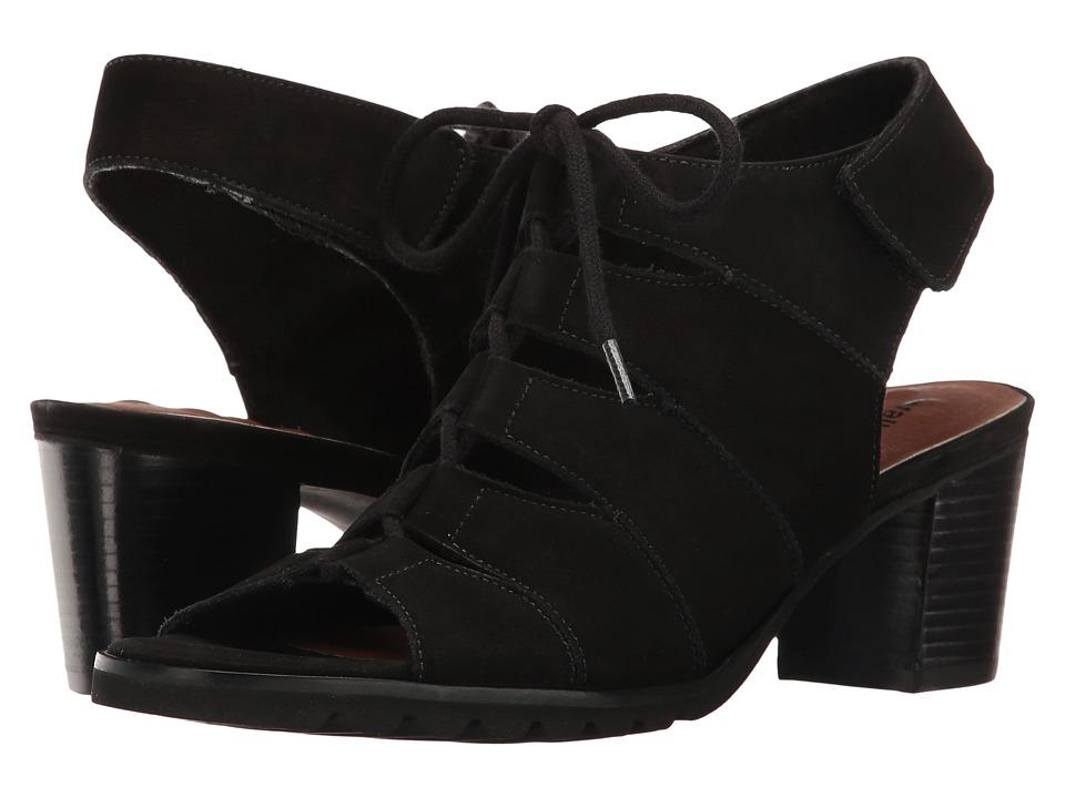 Walking Cradles - Nola (Black Nubuck) Women's 1-2 inch heel Shoes