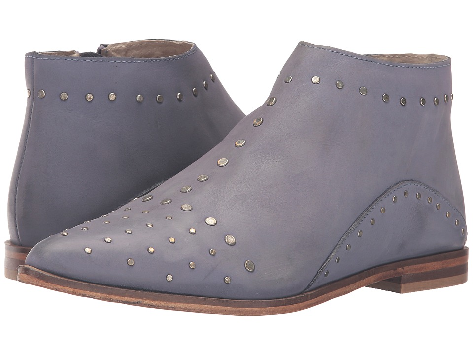 Free People - Aquarian Ankle Boot (Blue) Women's Zip Boots