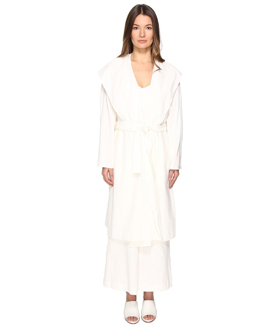 Y's by Yohji Yamamoto - K-Hooded Jacket (White) Women's Coat
