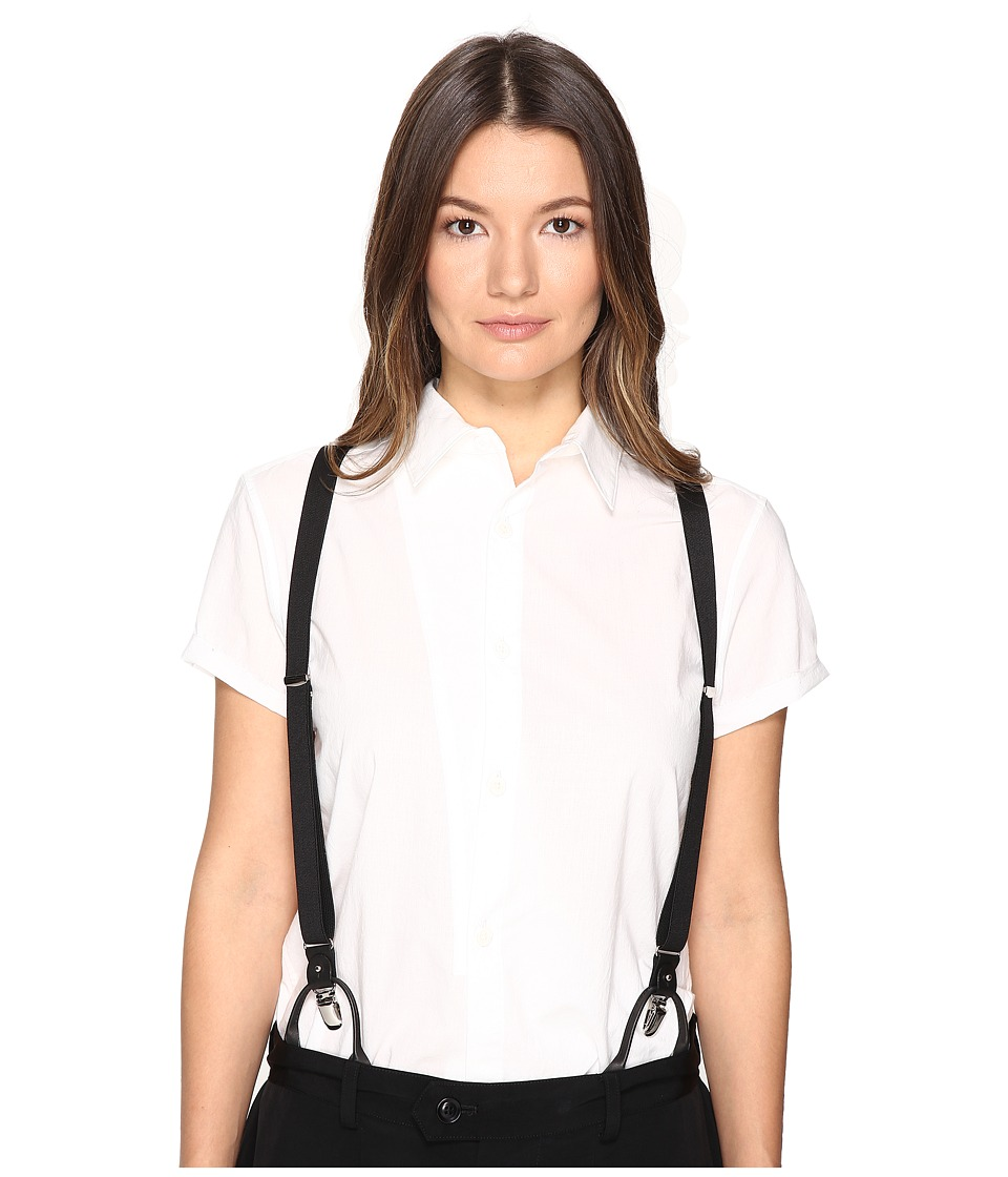 Y's by Yohji Yamamoto - O-Unbalance Hsba Collared Button Up (White) Women's Short Sleeve Button Up