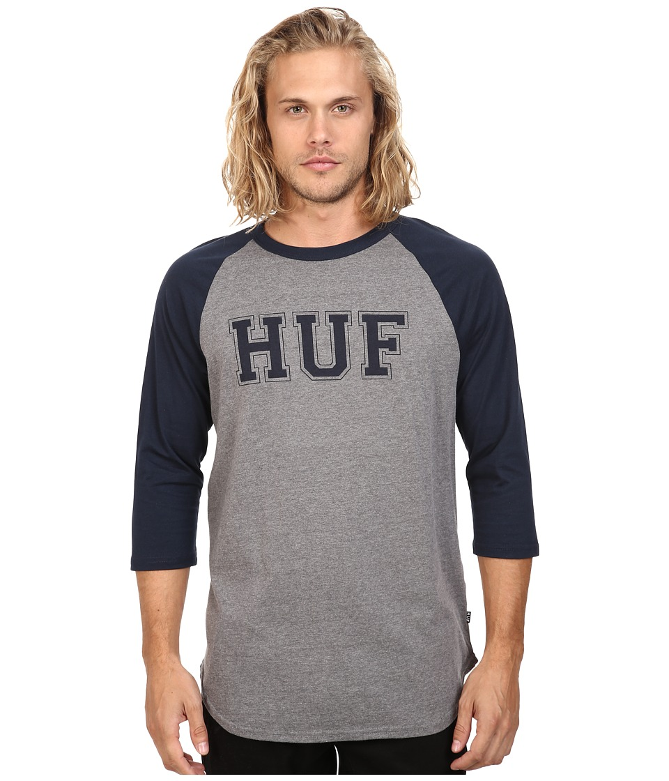 HUF - Hackman Raglan (Navy/Heather) Men's T Shirt