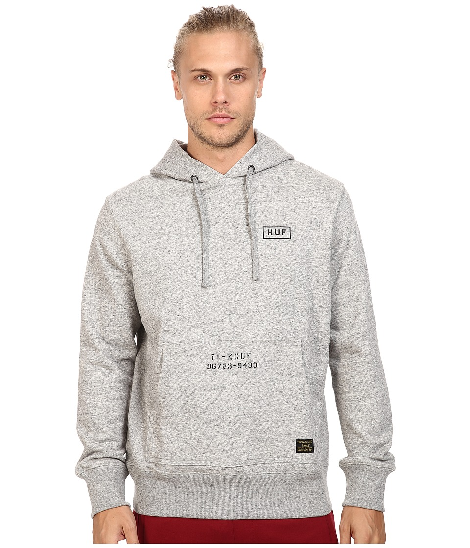 HUF - Standard Issue Pullover Hoodie (Grey Heather) Men's Sweatshirt