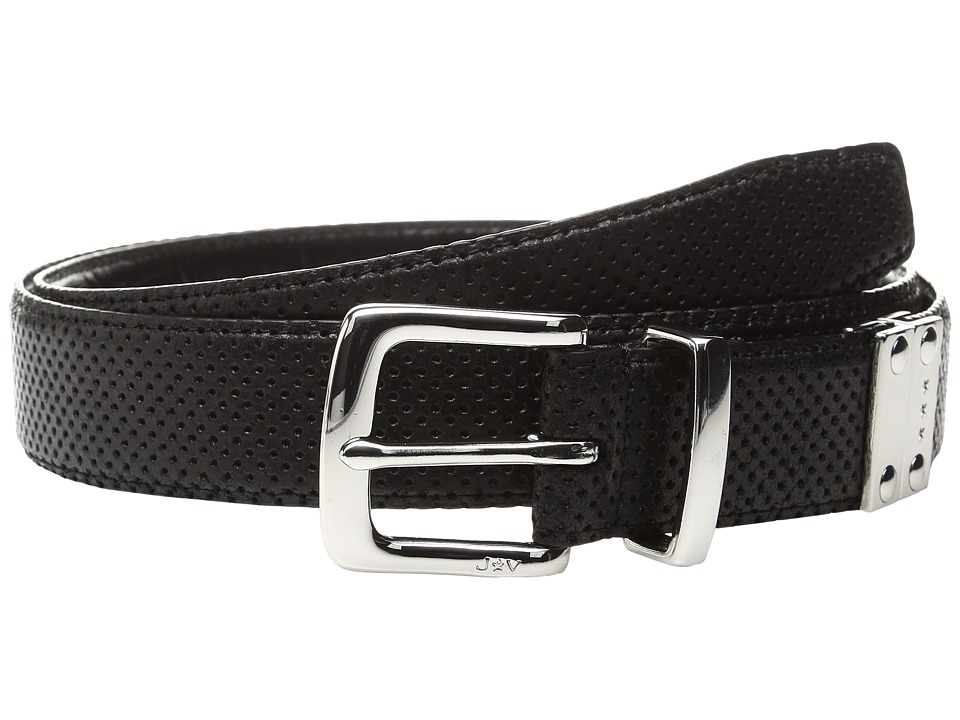 John Varvatos - Lamb Reversible Belt (Black) Men's Belts