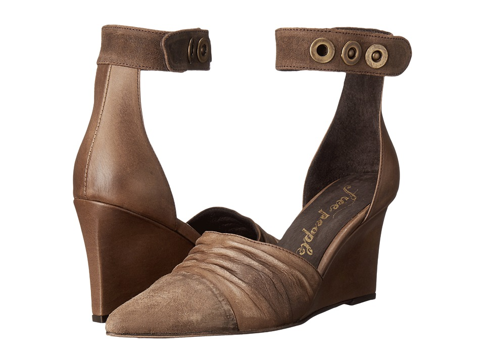 Free People - Shadow Dancer Wedge (Khaki) Women's Wedge Shoes