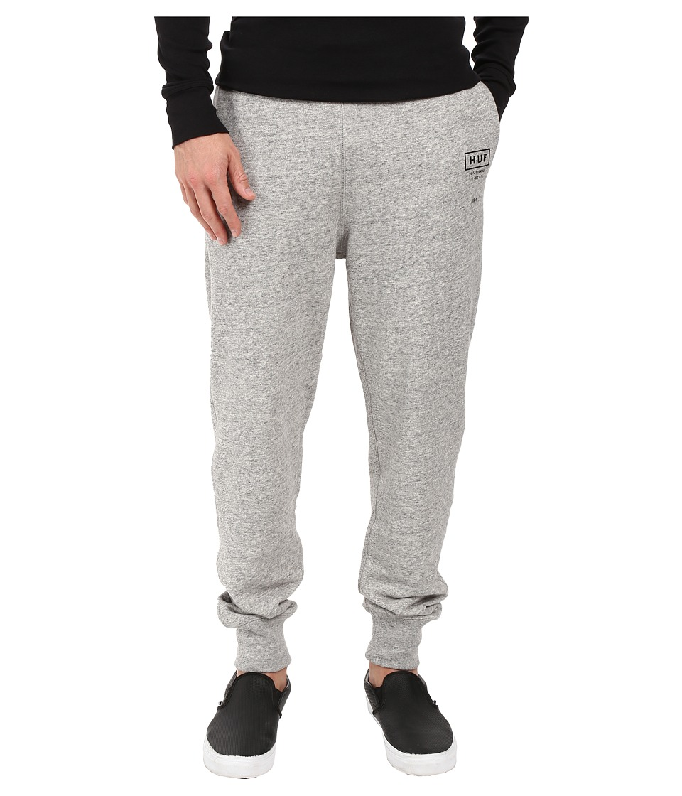HUF - Standard Issue Fleece Pants (Grey Heather) Men's Clothing