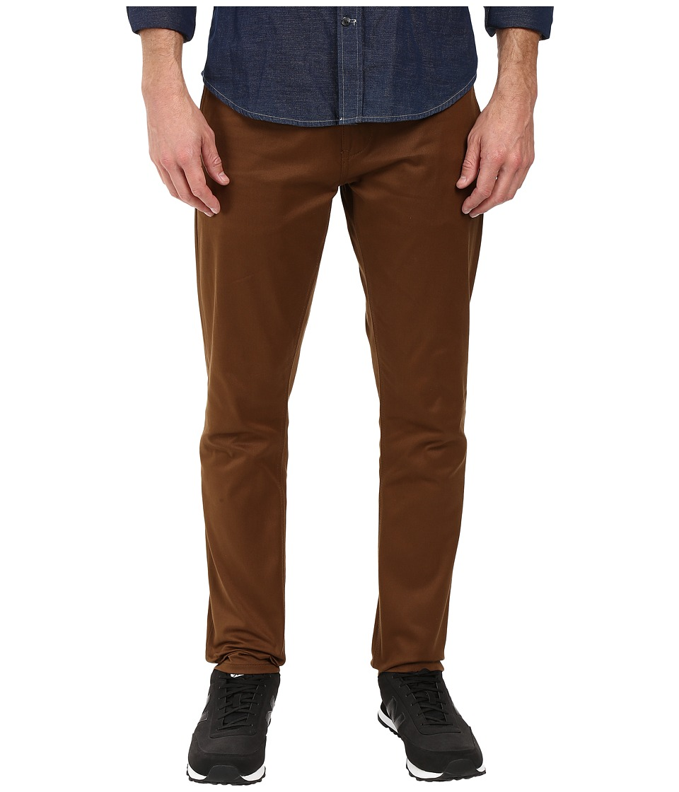 HUF - HUF x Chocolate Selvedge Chino Pants (Chocolate) Men's Clothing