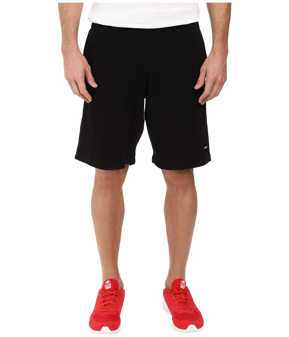 HUF - Box Logo Fleece Shorts (Black) Men's Shorts