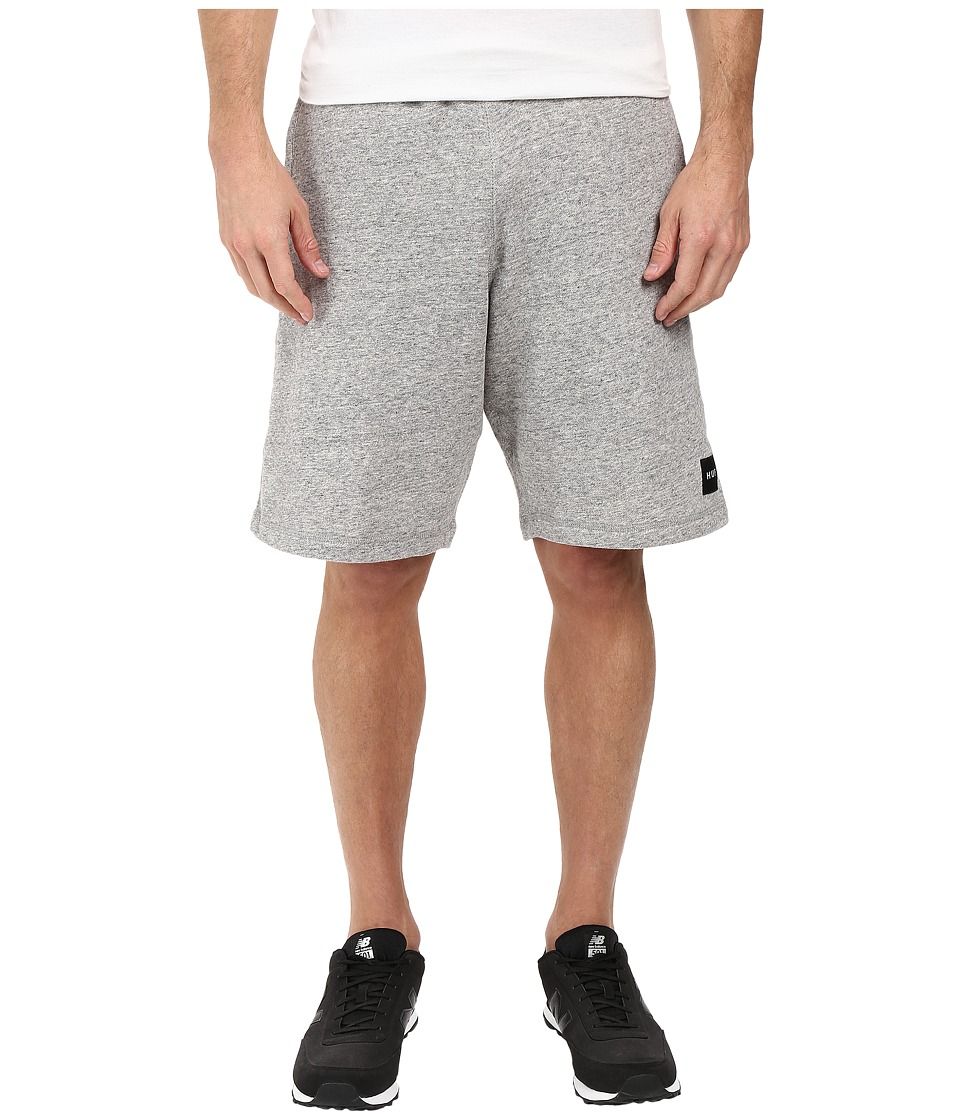 HUF - Box Logo Fleece Shorts (Grey Heather) Men's Shorts