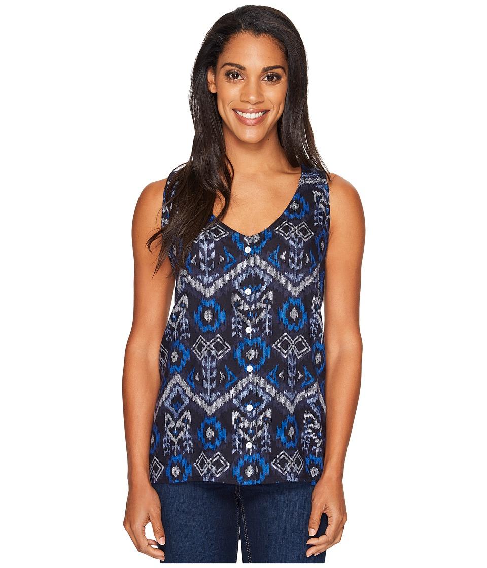 KAVU - Beryl Top (Blue Ikat) Women's Clothing
