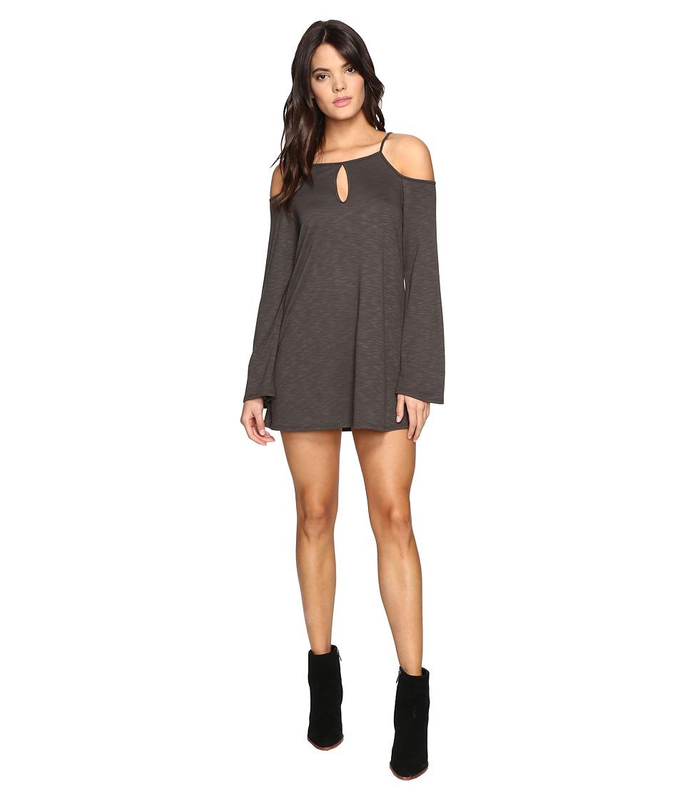 Lanston - Cold Shoulder Mini Dress (Military) Women's Dress