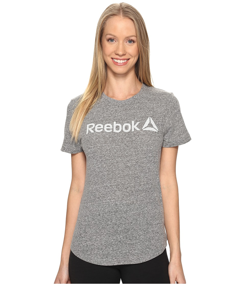 Reebok - Elements Prime Snow Melange Tee (Black) Women's T Shirt