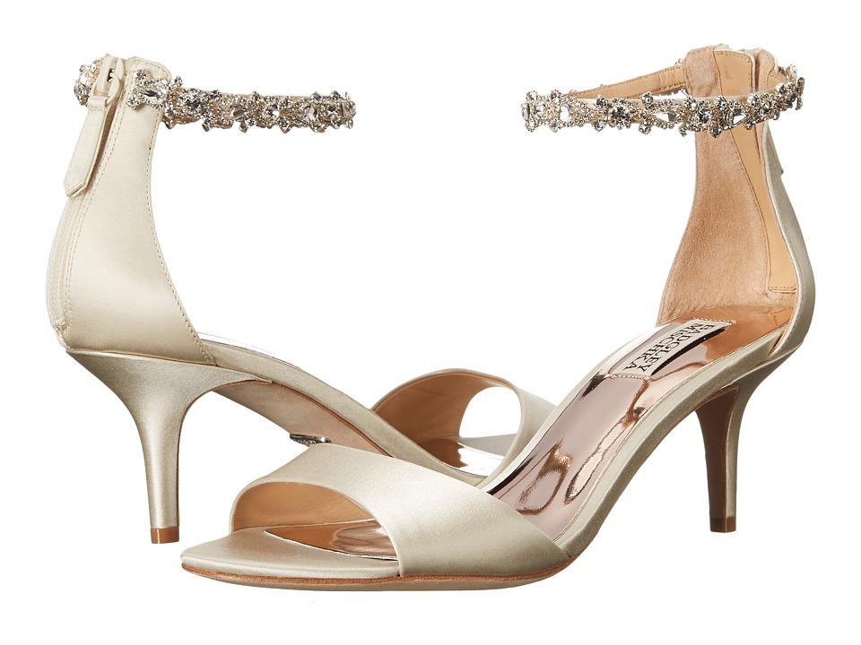 Badgley Mischka Geranium (Ivory Satin) High Heels
