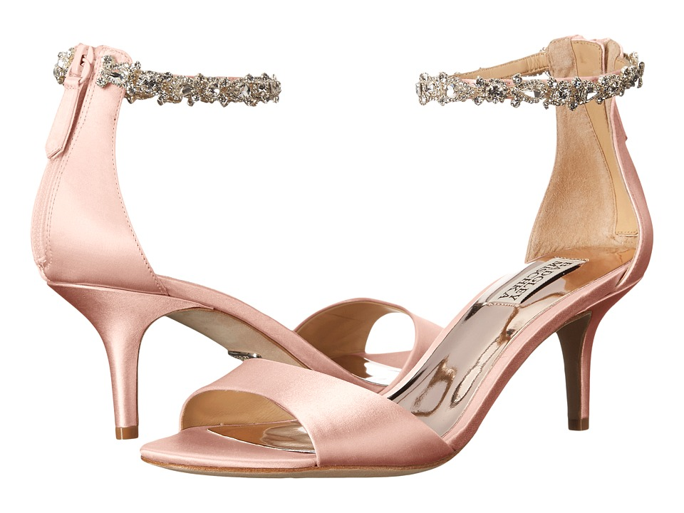 Badgley Mischka Geranium (Light Pink Satin) High Heels