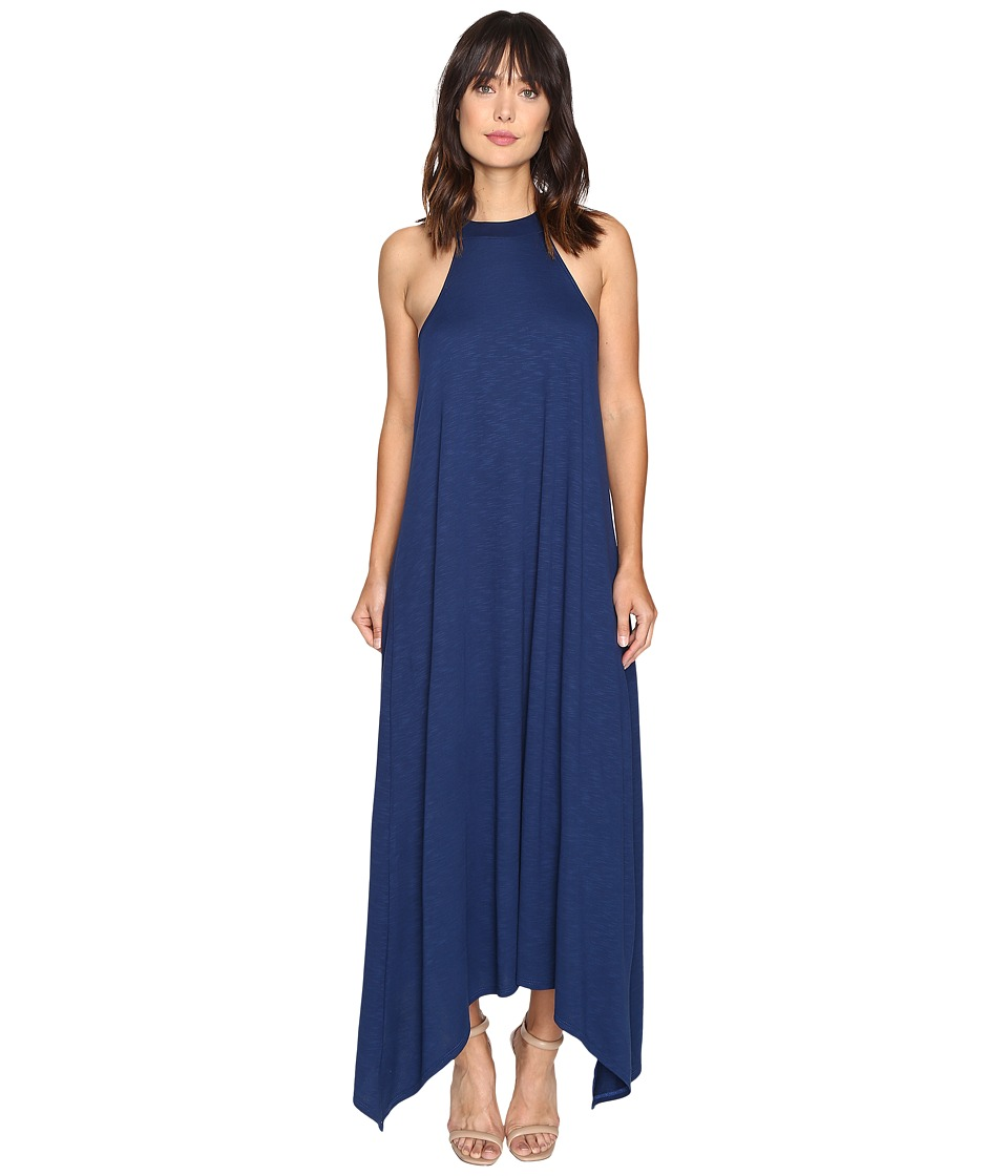 Lanston - High-Low Halter Midi Dress (Ocean) Women's Dress