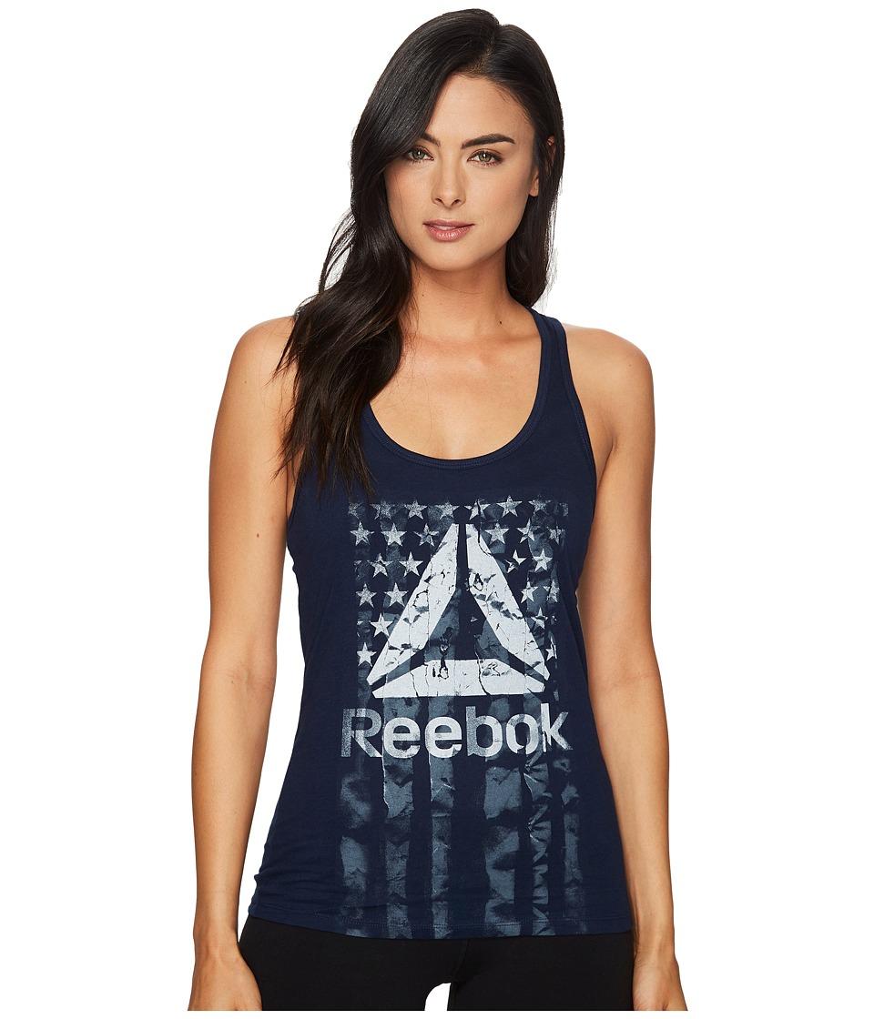 Reebok - Americana Flag Tank Top (Collegiate Navy) Women's Sleeveless