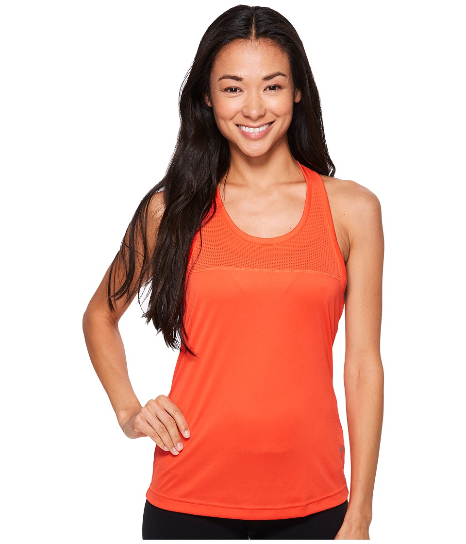 Reebok Workout Ready Mesh/Poly Tank Top (Carotene) Women