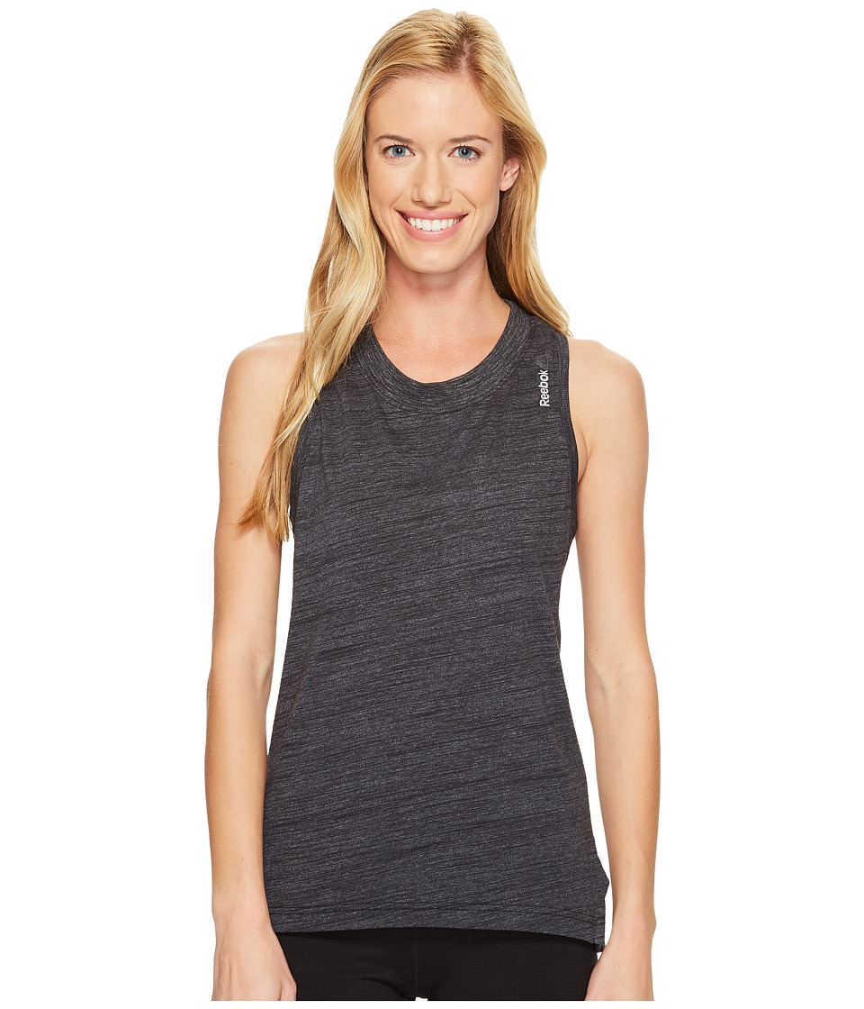Reebok - Elements Marble Tank Top (Black) Women's Sleeveless