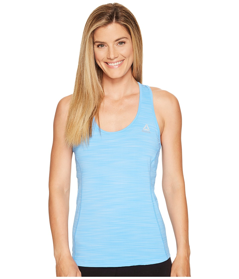 Reebok - Running Essentials Activchill Tank Top (Sky Blue) Women's Sleeveless