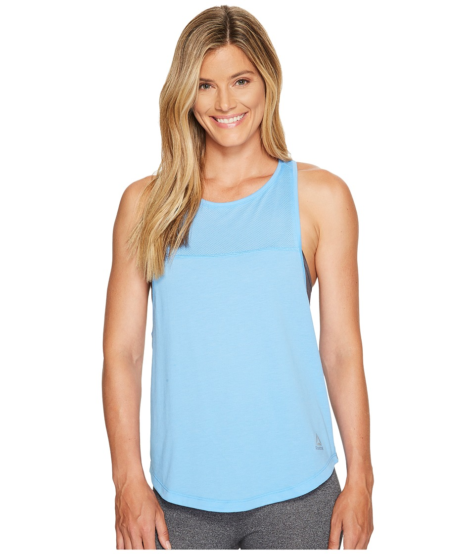 Reebok - Quik Cotton Muscle Tank Top (Sky Blue) Women's Sleeveless