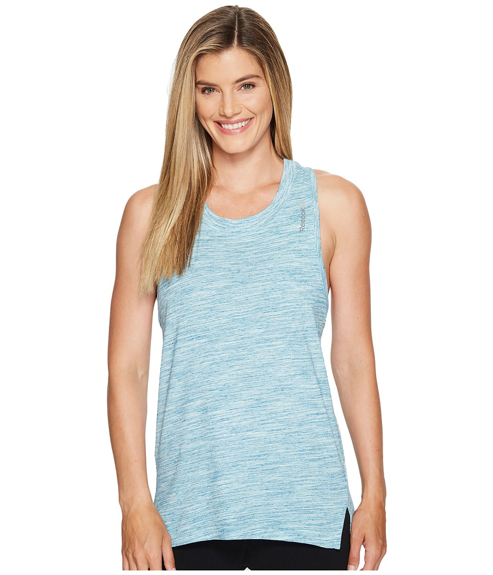 Reebok - Elements Marble Tank Top (Emerald Tide) Women's Sleeveless