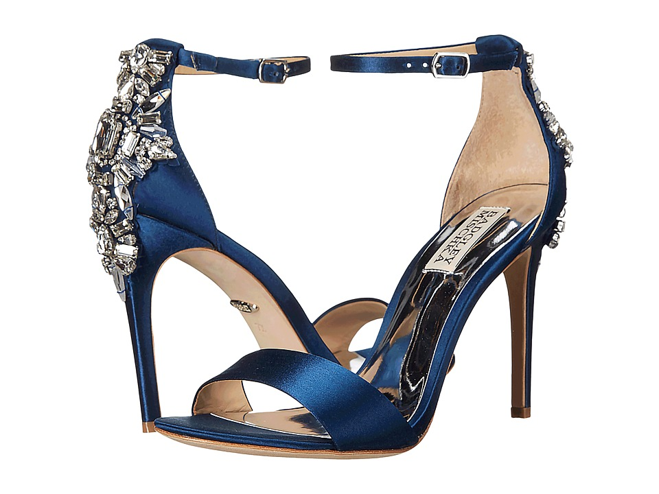 Badgley Mischka - Bartley (Navy Satin) High Heels