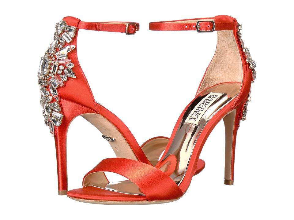 Badgley Mischka - Bartley (Coral Red Satin) High Heels