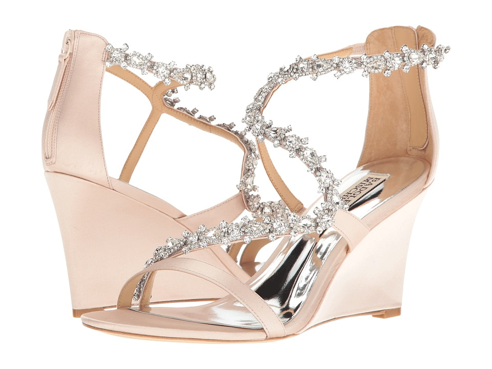 Badgley Mischka - Bennet (Light Pink Satin) Women's Wedge Shoes