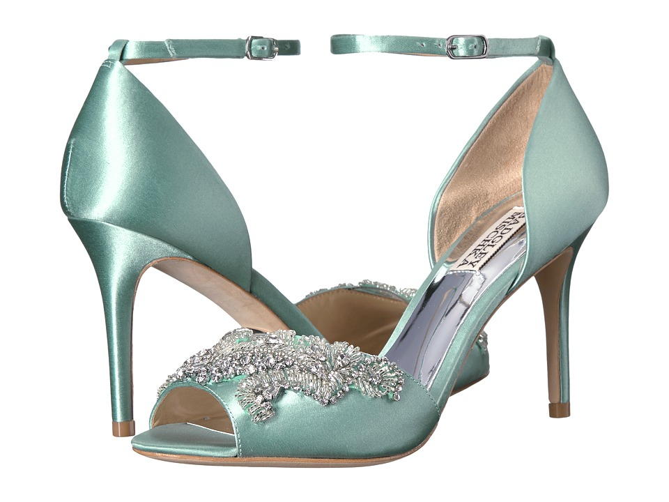 Badgley Mischka - Barker (Blue Radiance Satin) High Heels