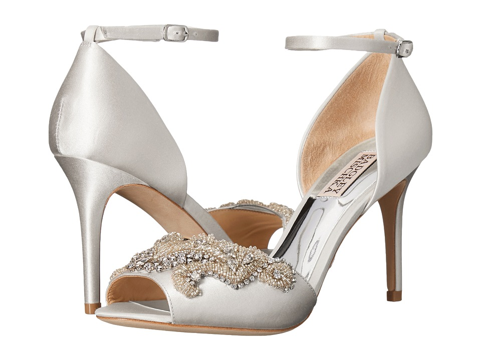Badgley Mischka - Barker (White Satin) High Heels