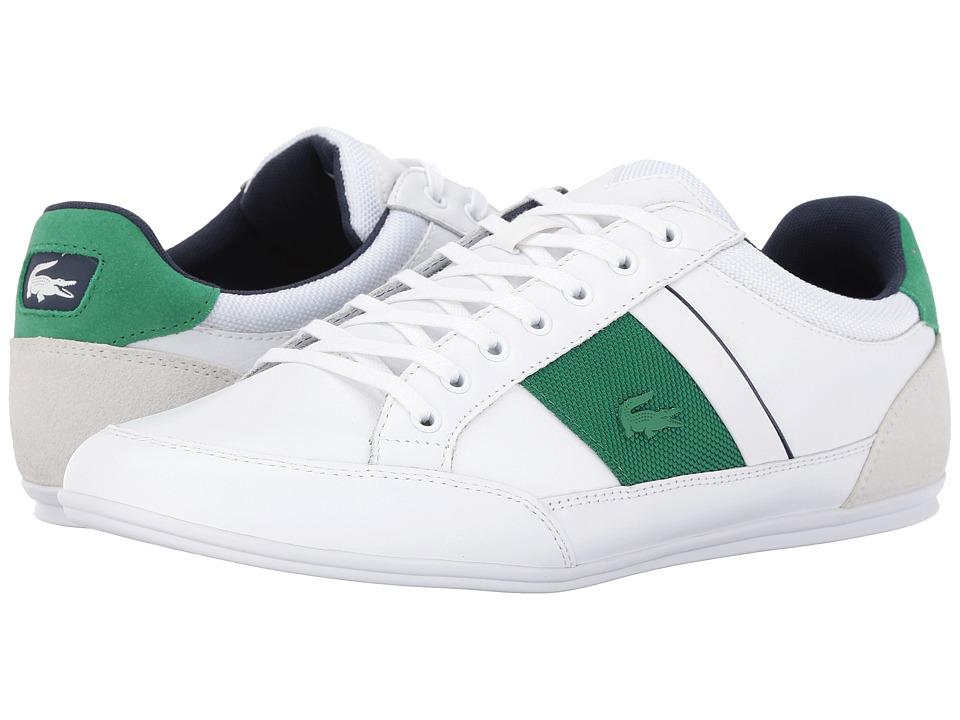 Lacoste - Chaymon G416 1 (White/Green) Men's Shoes