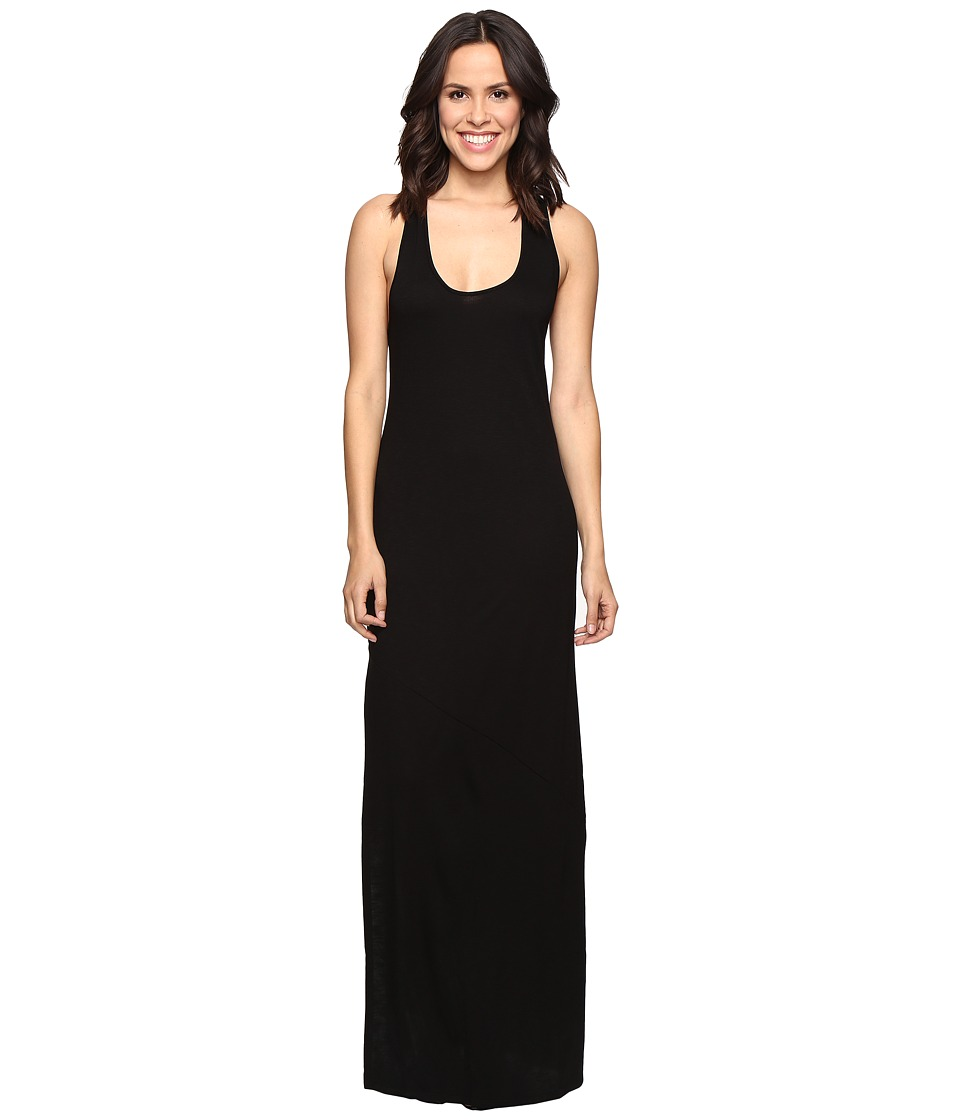 Lanston - Cross Back Maxi Dress (Black) Women's Dress