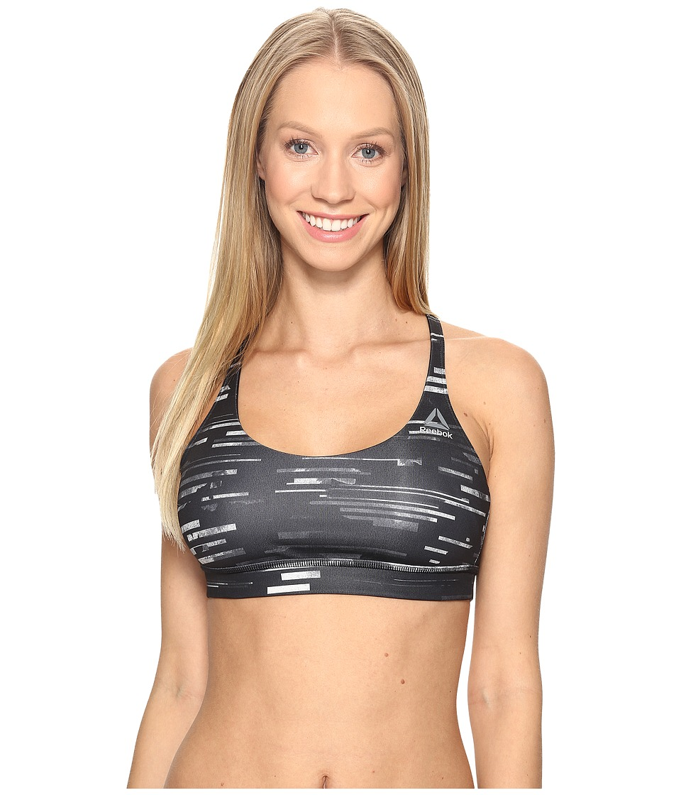 Reebok - Workout Ready Tri Back Bra All Over Print (Chalk) Women's Bra