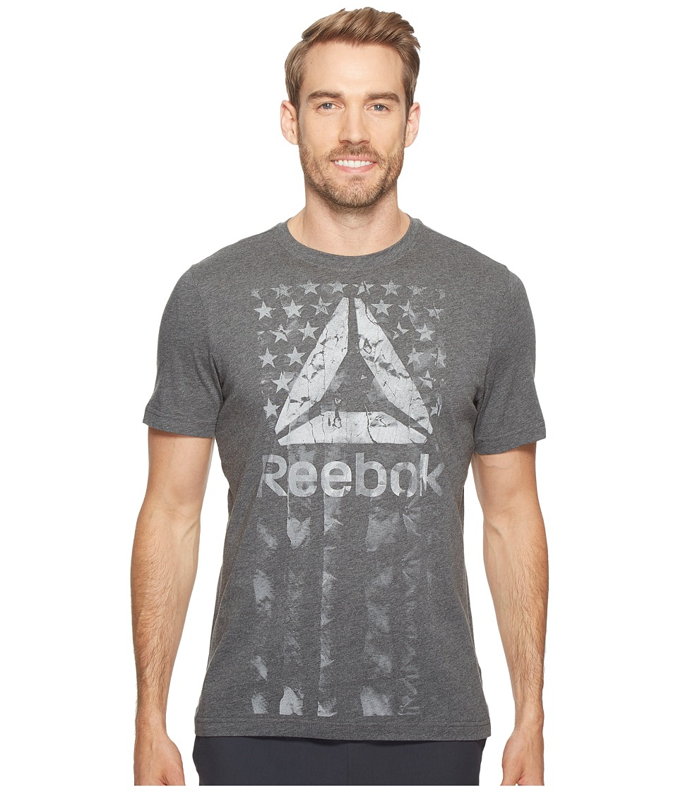 Reebok - Americana Tee (Dark Grey Heather) Men's T Shirt