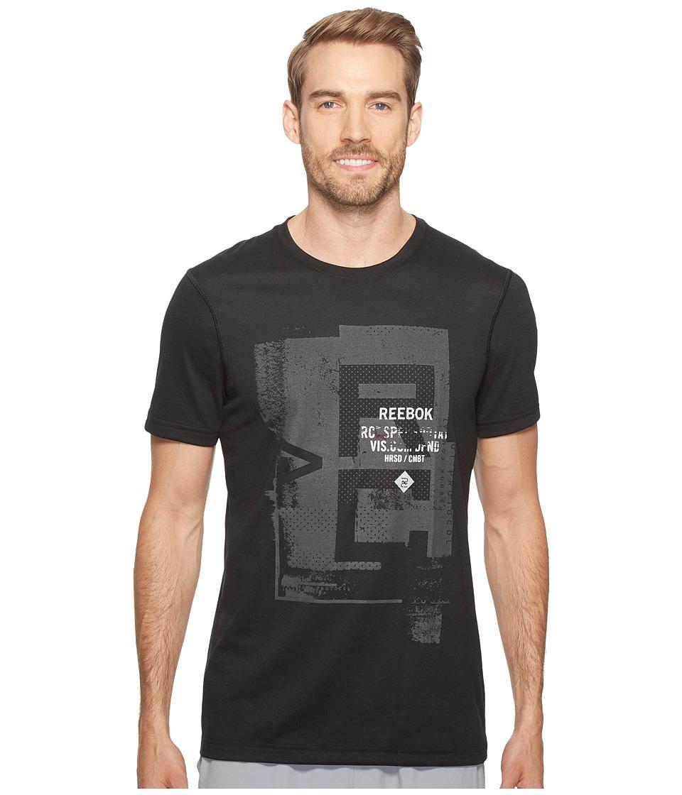 Reebok - Combat Tee (Black) Men's T Shirt